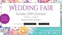 Luxury giveaways at the next Sandy Park Wedding Fair