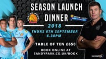 Season Launch Dinner Confirmed